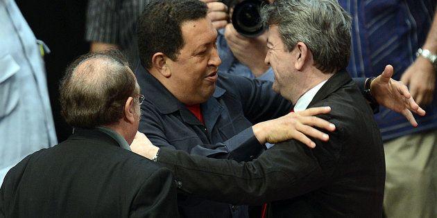 Hugo Chavez, alors président du Venezuela, avec Jean-Luc Mélenchon à l'été