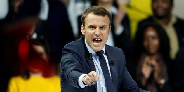 Emmanuel Macron lors de son meeting à Paris le 10 décembre
