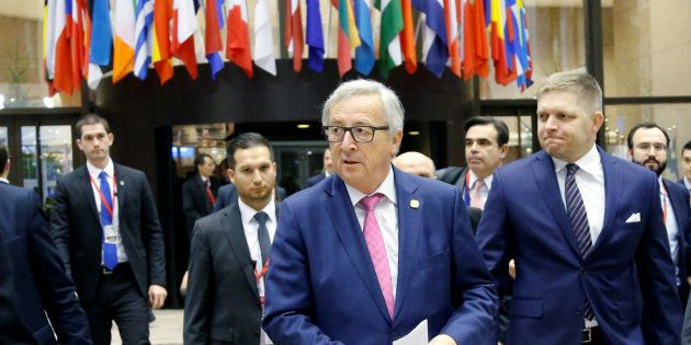 Jean-Claude Juncker lors du Conseil européen du 15 décembre