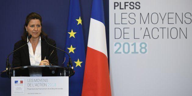 La Ministre de la Santé et des solidarités Agnès Buzyn présente le budget 2018 de la Sécurité sociale...