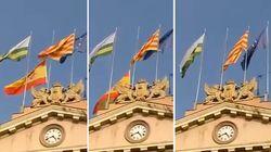 Les drapeaux espagnols déjà retirés de certaines mairies de