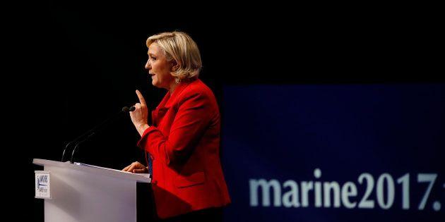 Marine Le Pen lors de son meeting