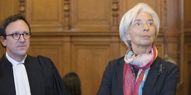 Christine Lagarde lors de l'ouverture de son procès au Palais de Justice de Paris, le 12