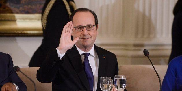 Le président François Hollande lors d'un dîner d'un travail à la Maison Blanche le 31 mars