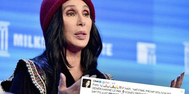 Le message sans concession de Cher sur Marine Le