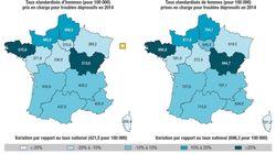 C'est en Bretagne que l'on trouve le plus de personnes hospitalisées pour
