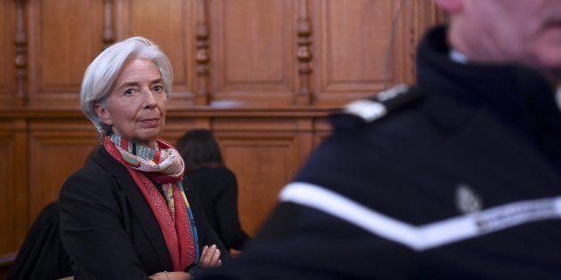 Christine Lagarde le 12 décembre, lors de son procès devant la Cour de justice de la