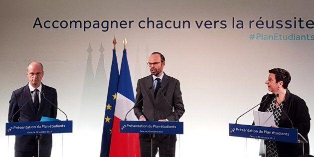 Jean-Michel Blanquer, Edouard Philippe et Frédérique Vidal au ministère de l'Enseignement