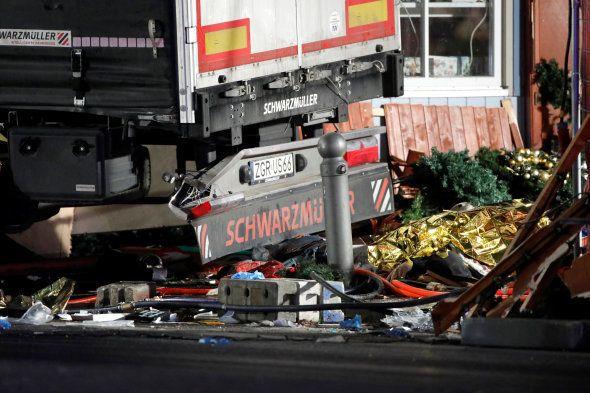 Le camion qui a foncé dans la foule à Berlin le 19