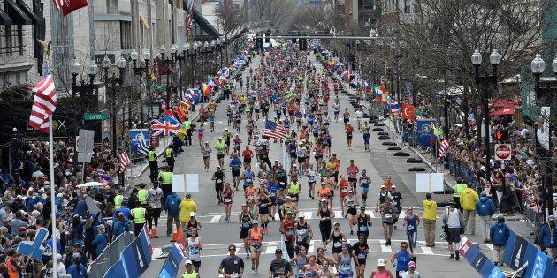A l'arrivée du marathon de Boston le 17 avril