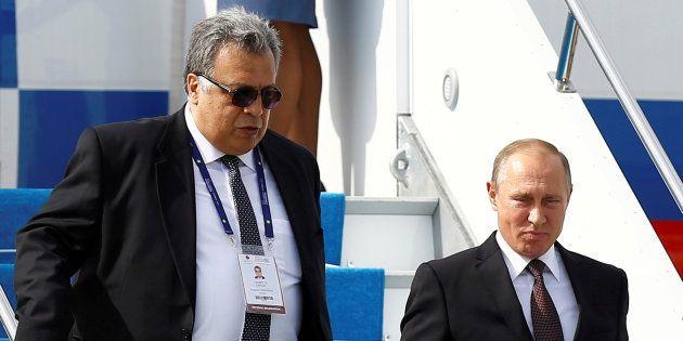 Andreï Karlov et Vladimir Poutine à Istanbul en octobre
