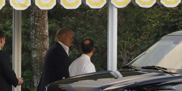 Donald Trump au Mar-a-Lago de Palm Beach ce 19