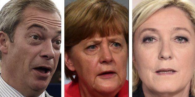 Nigel Farage et Marine Le Pen ont critiqué la politique d'Angela