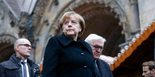 Angela Merkel sur le lieu de l'attentat de