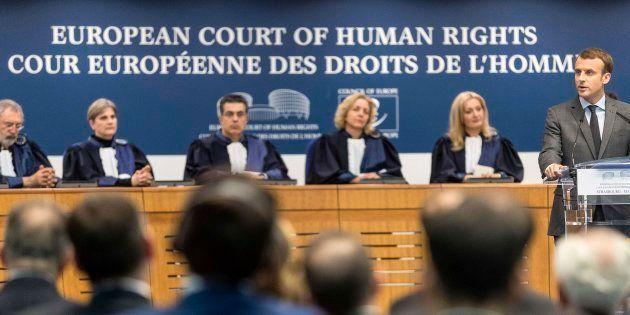 Macron plaide devant la CEDH pour sa loi antiterroriste, une première pour un président
