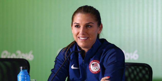 Alex Morgan lors des Jeux olympiques à Rio de Janeiro en août