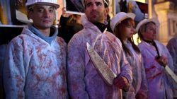 Pour Halloween, ces militants de L214 ont défilé en employés
