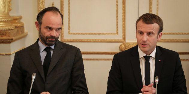 Edouard Philippe et Emmanuel Macron à l'Elysée le 30