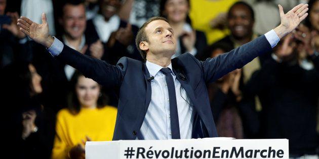 Emmanuel Macron, lors de son meeting le 10 décembre à
