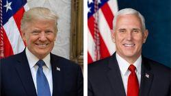 Les portraits officiels de Trump et Pence valent le