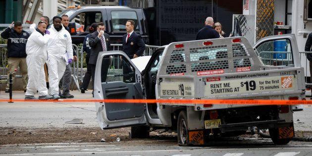 Le pick-up qui a servi à Sayfullo Saipov à commettre son attentat à New York le 31 octobre