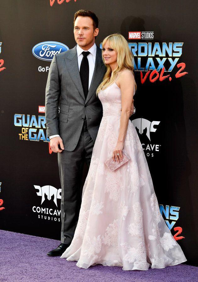 Chris Pratt et Anna Faris lors de l'avant première des
