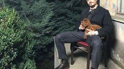 La technique d'Orlando Bloom pour faire du vélo avec son chien