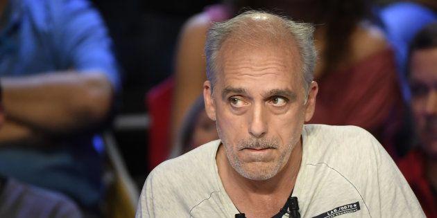 Philippe Poutou, candidat du NPA, pendant le débat télévisé du 4 avril