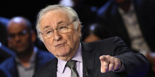 Jacques Cheminade, candidat de Solidarité & Progrès, lors du débat télévisé du 4 avril