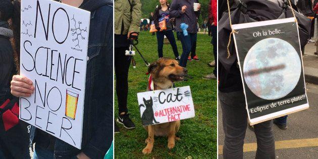 Le meilleur des pancartes lors des marches pour les sciences en France et