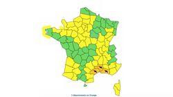 Trois départements en vigilance orange à cause de violents orages et