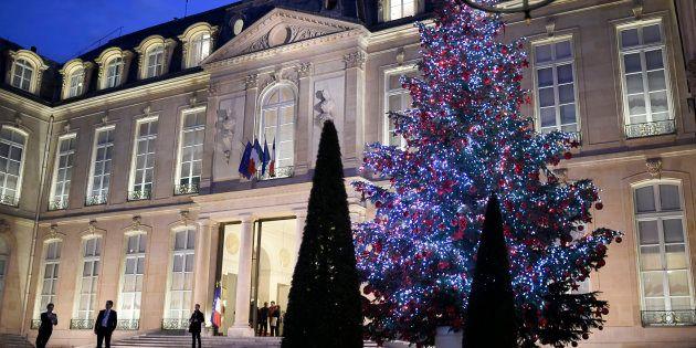 Le Palais de l'Elysée à Paris, le 16 décembre