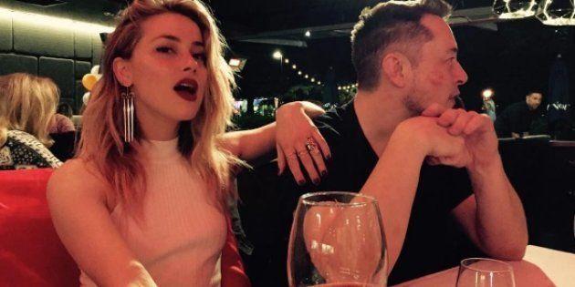 Amber Heard et Elon Musk au