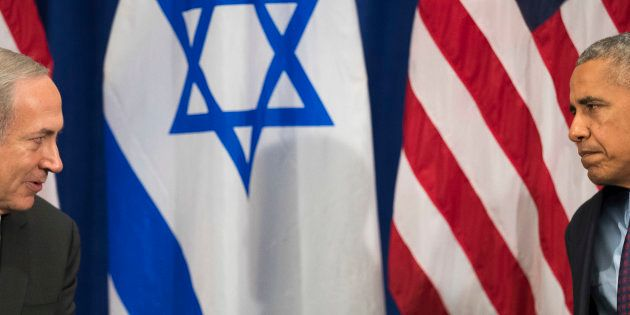 Benjamin Netanyahu et Barack Obama à New York le 21 septembre