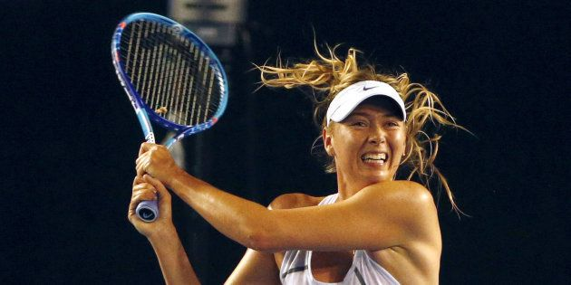 Maria Sharapova lors d'une session d'entraînement à Melbourne en Australie en janvier