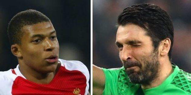 Kylian Mbappé opposé à Gianluigi Buffon en Ligue des