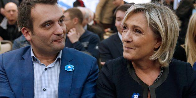 Florian Philippot au côté de Marine Le Pen en novembre 2016, quand tous deux défendaient l'abrogation...