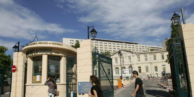 Vue extérieure de l'hôpital de la Timone où exerçait l'interne soupçonné de jihadisme arrêté en