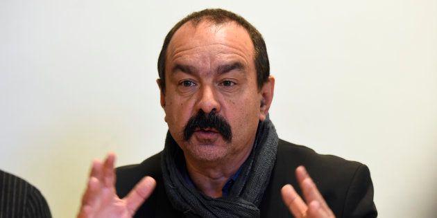 Philippe Martinez à Paris le 29 mars