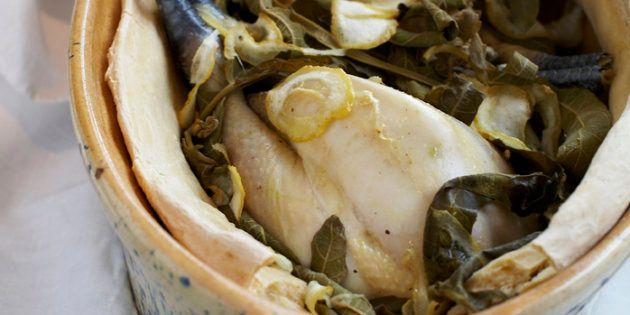 Vite fait, bien fait: poulet aux feuilles de figuier