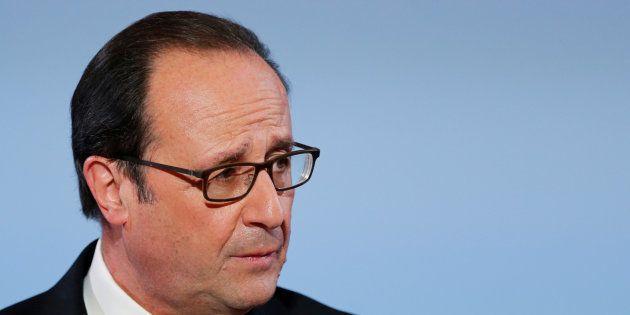Francois Hollande à l'Elysée le 16 décembre,