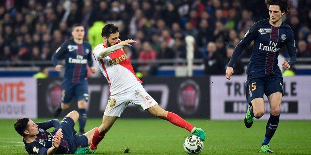 Lors de la finale de la Coupe de la Ligue PSG-Monaco le 1er avril