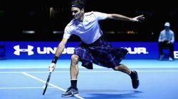 En kilt, Federer n'est pas mauvais face à