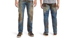 Une marque ose vendre ce jean couvert de fausse boue 425 euros. Oui, 425