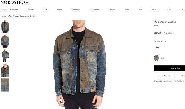 Ce jean couvert de fausse boue est vendu 425 euros. Oui, 425