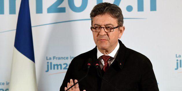 Jean-Luc Mélenchon à Paris le 23 avril