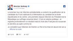 Sarkozy ne reviendra pas en politique et votera