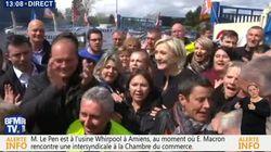 Le Pen s'invite à Whirlpool pendant que Macron rencontre des