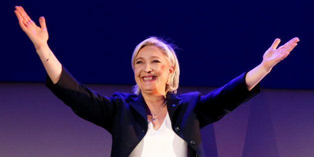 Marine Le Pen à Hénin-Beaumont le 23 avril