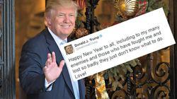 Donald Trump souhaite une bonne année 2017 et n'oublie
